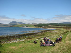 A relaxing afternoon at Machrie Bay on the Isle of Arran