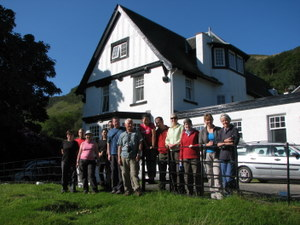 The group at Lochranza Hostel on the Isle of Arran