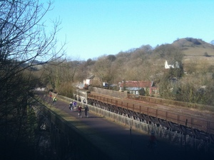 Cycing the Monsal Trail, Millers Dale, Derbyshire